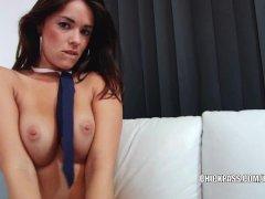 Brunette hottie Ava Dalush makes her wet pussy cum