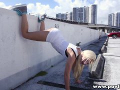 POVLife After twerking in the parking lot teen gets creampied