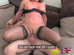 FakeAgentUK Fucking rimming and creampie for escort seeking porn work