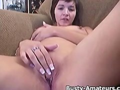 Busty Vanessa striptease and masturbation scene