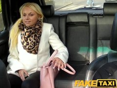 FakeTaxi Hot blonde sucks cabbie s dick on backseat