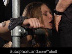 Slutty Alessandra Jane in BDSM bondage