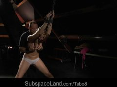 Bdsm basement submission and plastic wrapping releases screams of fear