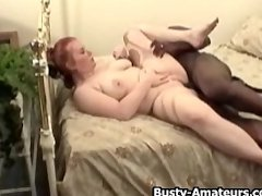 Busty amateur Fiona fucking black dick