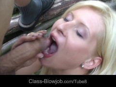 Busty blonde bitch rimming and sucking cock