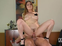 Britsh bad girl Samantha Bentley gets stuffed hard in a casting