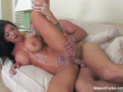 Mason Moore Takes his big cock