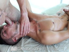 GayRoom   Massage Bait Gabriel Knight Pounded by Dimitri Kane