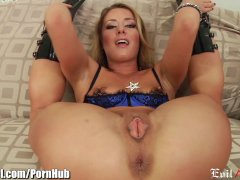 EvilAngel Sheena Shaw s Anal Insertion and Rim job