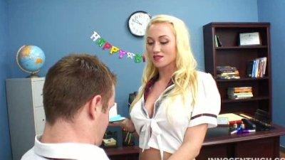 Beautiful blonde Madison Scott