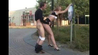 Public sex by roundabout