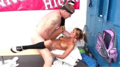 busty blonde schoolgirl getting pounded by her teacher