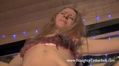 Naughty Tinkerbell PEE HOLE inserttion and other sexy lesbian correction