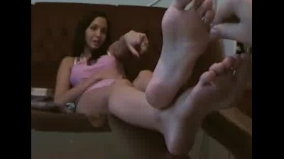 Naughty long feet and toes young girl