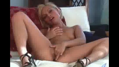 Stunning Sylvia reveals great ass and masturbates