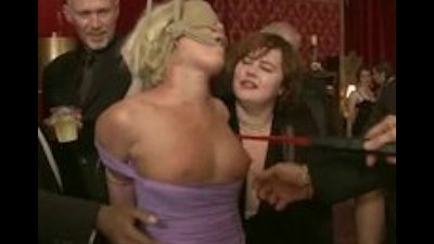 Harshly tied blonde fingered spanked and fucked in violent bondag