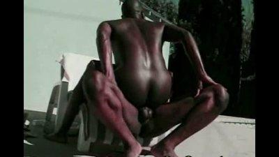Hot black studs anal hole fucking action