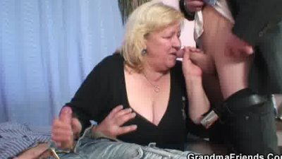 gives double blowjob and gets doggystyle fucked