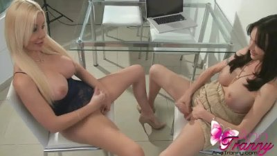 Ana Mancini and Mariana Cordoba sucking cock