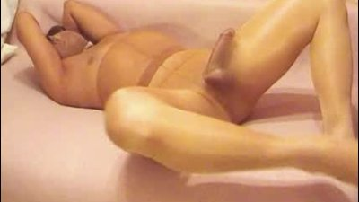 Brow pantyhose fullbody