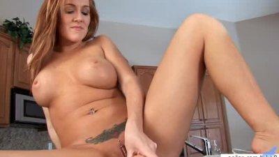 Hot milf slaps her horny cunt