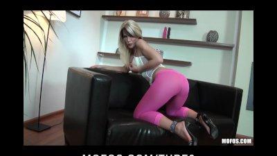 Horny bigass blonde Euro slut has wet pussy fucked by harddick
