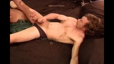 CBT I squeeze and punch his balls while he's restrained.
