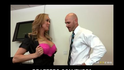 Horny Bigtit Blonde MILF fucks employee's bigdick in the office