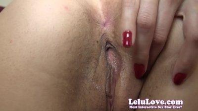Lelu LoveHairy Pussy Closeup Fingering