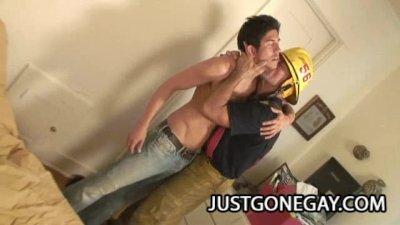 Hairy Firefighter Fucks Skater Dude