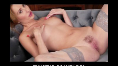 Stunning British redhead with a sexy body teases herself