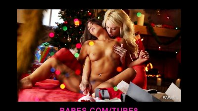 Two gorgeous lesbian girlfriends make passionate love