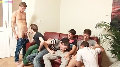 Horny Latin Twinks On Gangbang