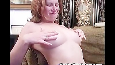 Sweet chick Ginger is playing her hot vagina