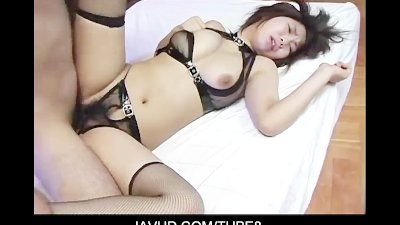 Huge titted asian chick puts her ass up for hardcore doggystyle