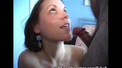 Cum face disgrace facial compliation
