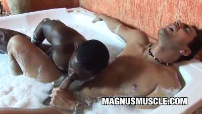 A Wet And Wild Interracial Gay Muscle Sex In The Bath Tub