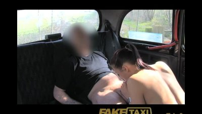 FakeTaxi Brunette club hostess