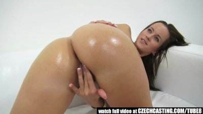 Super BABE Hot Masturbation on Casting Couch