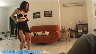 Lapdance by 18yo shy czech chick