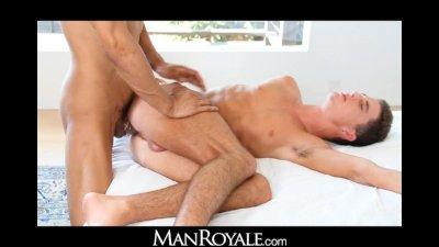 ManRoyale Cash gets cock fed in a downward dog fuck