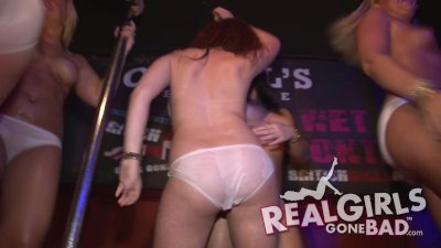 BUSTY HOT ENGLISH GIRLS STRIPTEASE WET T-SHIRT CONTEST COMPILATION