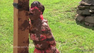 Elise Graves gets Muddy in Outdoor Bondage