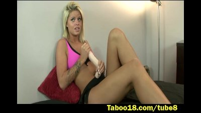 First dick jerking lessons for Jessa