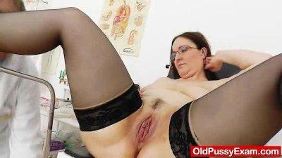 Big-breasted matured ob gyn ex