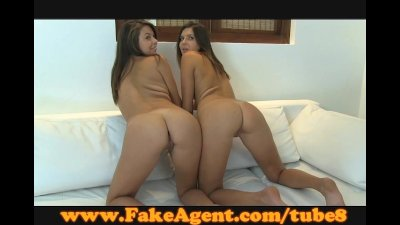 FakeAgent Horny young amateurs fucked in casting