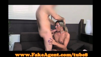 FakeAgent Blonde swallows mout