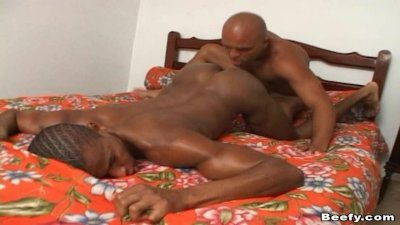 Muscled Gay Dude Fuck by Black