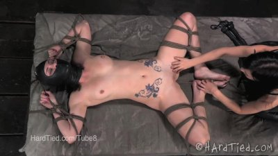 Veruca James Tied Up, Tickled, Begging to Cum