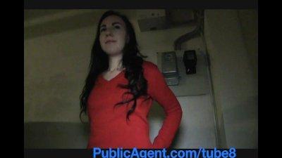 PublicAgent Jessie gets her wet pussy fucked on stairwell